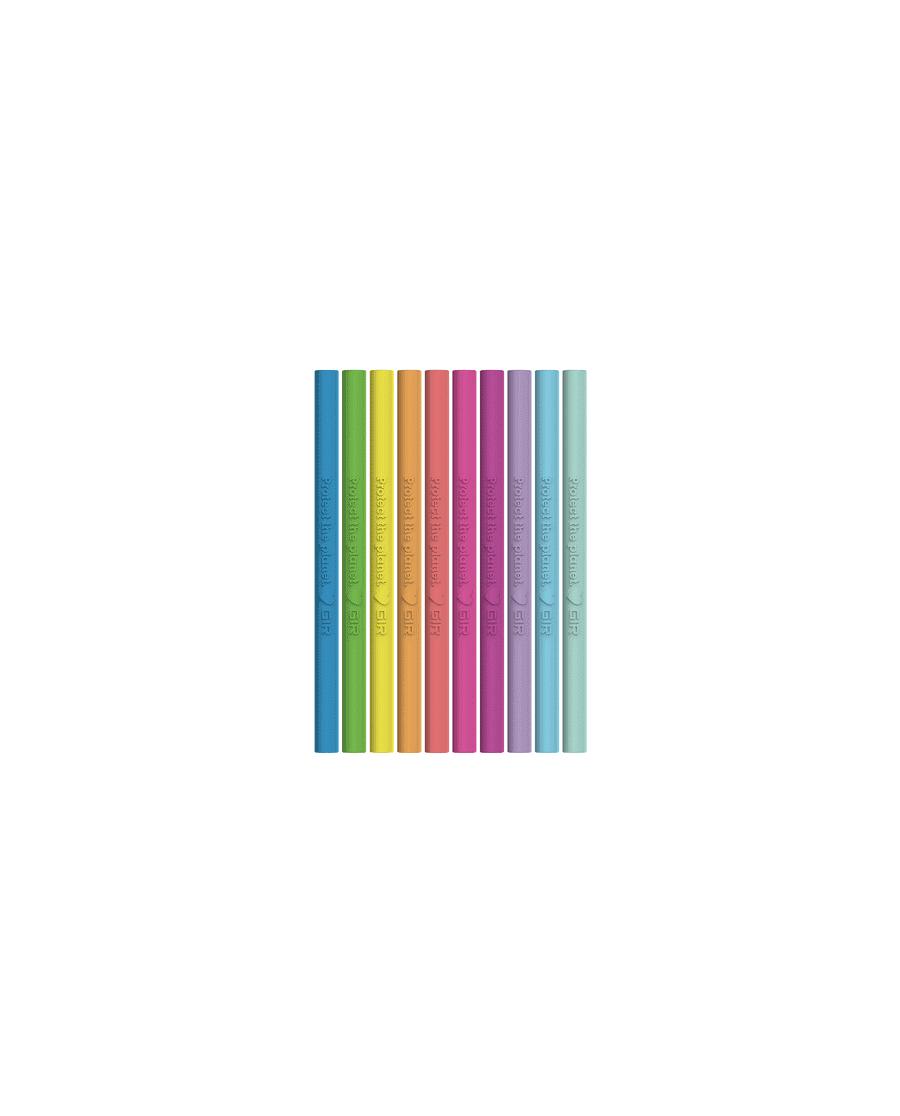 GIR (Get it Right) - siliconen cocktailrietjes - set van 10 - Glow