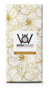 WOW Cacao - chocoladereep melk - almond cinnamon