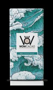 WOW Cacao - chocoladereep melk - caramel seasalt