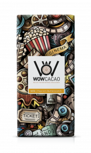 WOW Cacao - chocoladereep melk - popcorn butterscotch