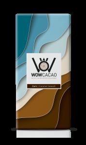 WOW Cacao - chocoladereep puur - caramel seasalt