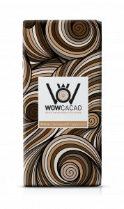 WOW Cacao - chocoladereep wit - stroopwafel cappuccino